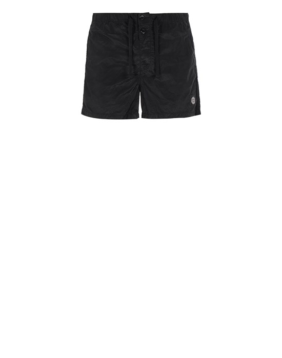 STONE ISLAND B0643 NYLON METAL Swimming trunks Man Black