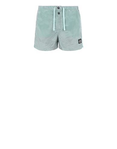 STONE ISLAND B0643 NYLON METAL Swimming trunks Man Aqua USD 150