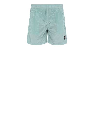 STONE ISLAND B0943 NYLON METAL Swimming trunks Man Aqua EUR 145