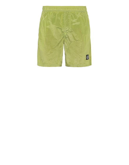 STONE ISLAND B0943 NYLON METAL Swimming trunks Man Pistachio Green