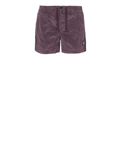 STONE ISLAND B0643 NYLON METAL Swimming trunks Man Dark Burgundy EUR 145