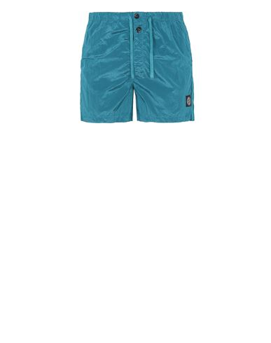 STONE ISLAND B0643 NYLON METAL Swimming trunks Man Turquoise EUR 145