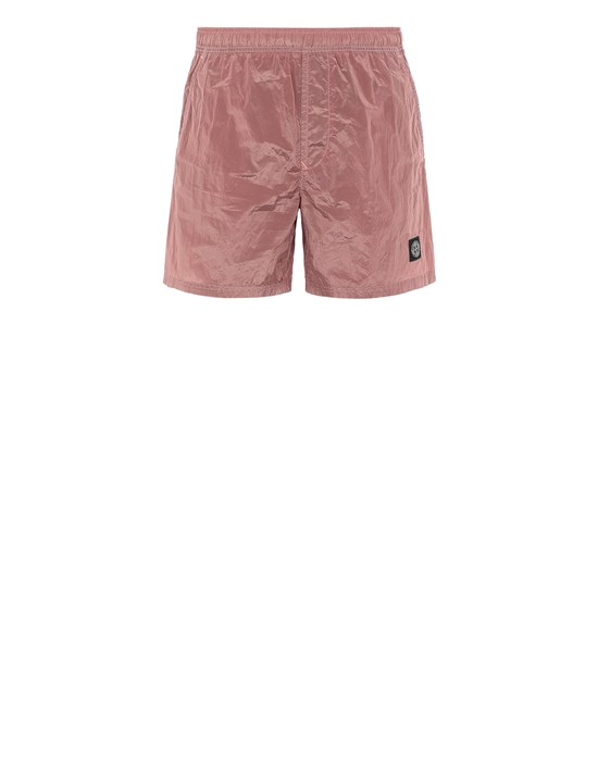 STONE ISLAND B0943 NYLON METAL Swimming trunks Man Pink Quartz