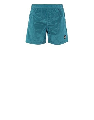 STONE ISLAND B0943 NYLON METAL Swimming trunks Man Turquoise EUR 145