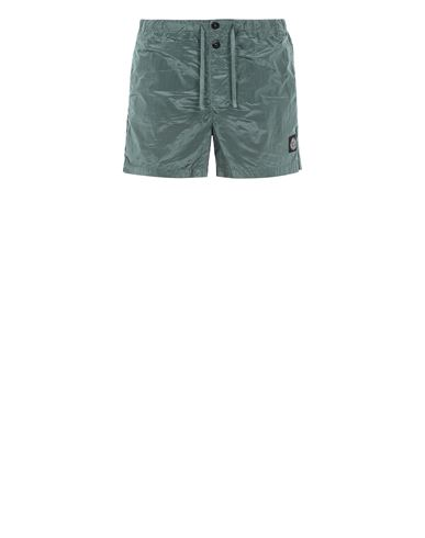 STONE ISLAND B0643 NYLON METAL Swimming trunks Man Dark Teal Green EUR 155