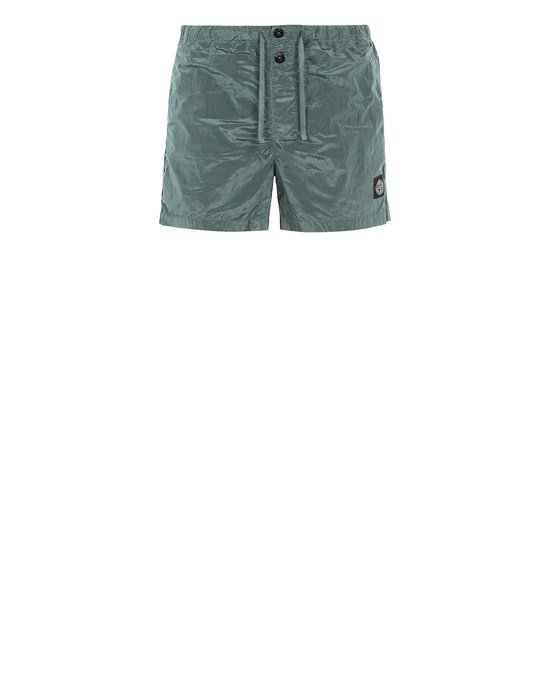 STONE ISLAND B0643 NYLON METAL Swimming trunks Man Dark Teal Green