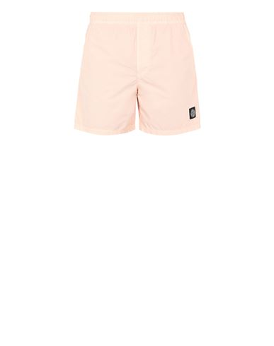 STONE ISLAND B0946 Swimming trunks Man Pastel pink EUR 145