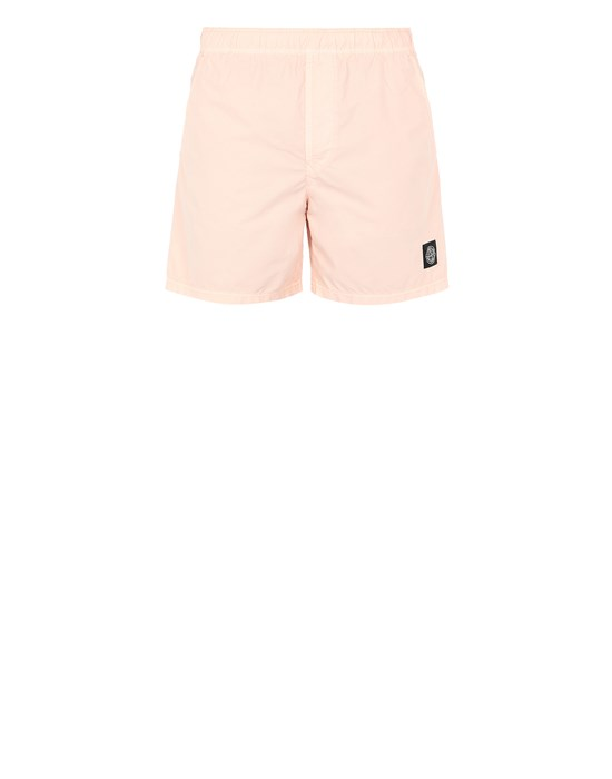 STONE ISLAND B0946 Swimming trunks Man Pastel pink