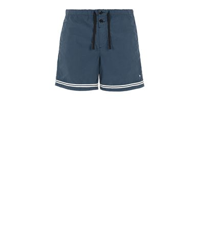 STONE ISLAND B0146 Swimming trunks Man Avio Blue USD 214