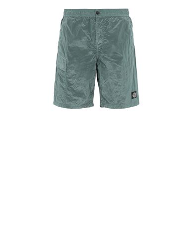 STONE ISLAND B0343 NYLON METAL  Swimming trunks Man Dark Teal Green EUR 208