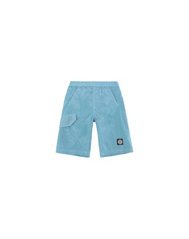 STONE ISLAND KIDS B0113 NYLON METAL  Swimming trunks Man Turquoise EUR 114