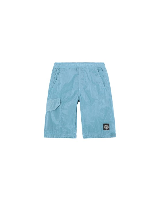 平角沙滩裤 男士 B0113 NYLON METAL Front STONE ISLAND JUNIOR