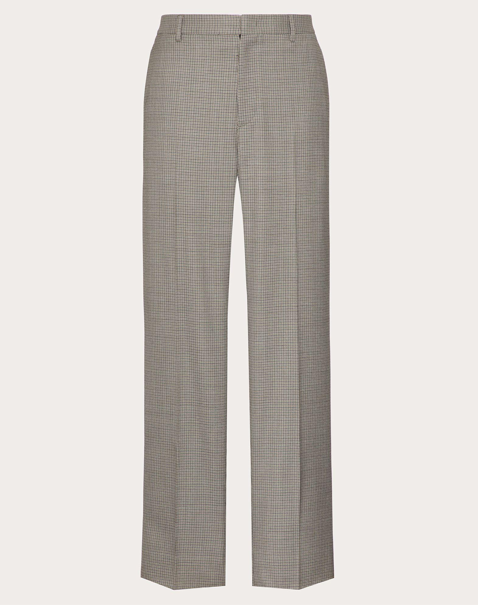 Valentino Uomo Wollhose Herren Grau Schurwolle 100% 48 In Gray