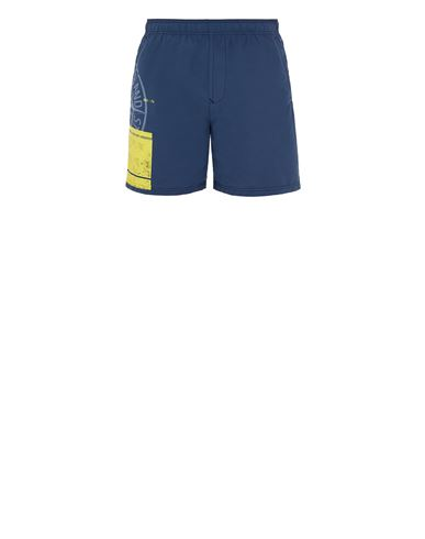 STONE ISLAND B0997 'BLOCK SWIMWEAR'  Swimming trunks Man Avio Blue EUR 179