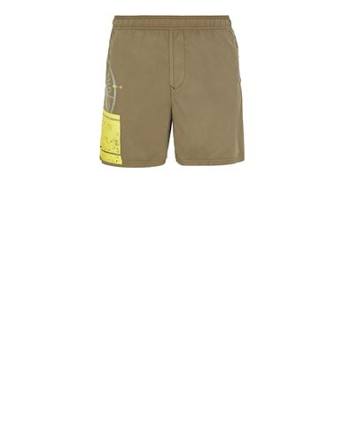 STONE ISLAND B0997 'BLOCK SWIMWEAR'  Swimming trunks Man Olive Green EUR 158