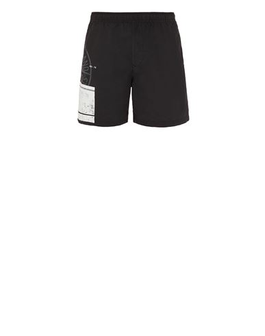 STONE ISLAND B0997 'BLOCK SWIMWEAR'  Swimming trunks Man Black EUR 179