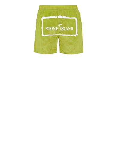 STONE ISLAND B0992 NYLON METAL 'STENCIL' PRINT  Swimming trunks Man Pistachio Green EUR 136