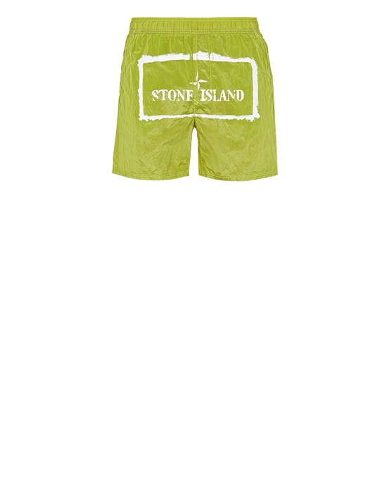 Swimming trunks Man B0992 NYLON METAL 'STENCIL' PRINT Front STONE ISLAND