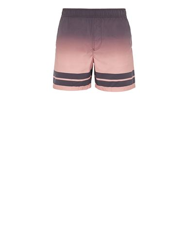 STONE ISLAND B0542 'SHADED PRINT' + STRIPES Swimming trunks Man Dark Burgundy USD 184