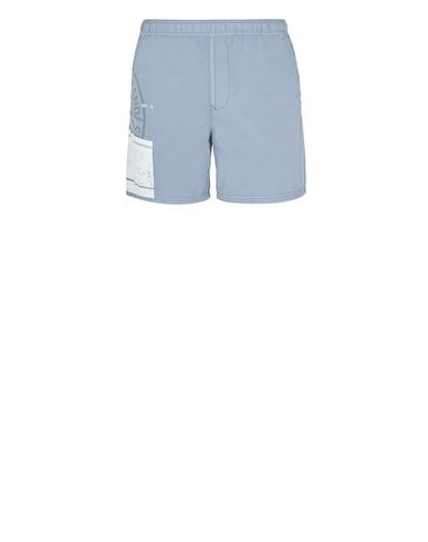 STONE ISLAND B0997 'BLOCK SWIMWEAR'  Swimming trunks Man Pastel Blue USD 207