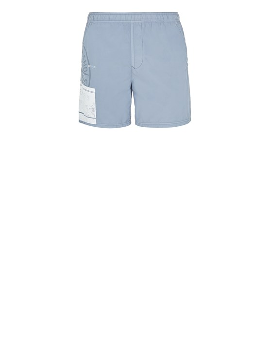 STONE ISLAND B0997 'BLOCK SWIMWEAR'  Swimming trunks Man Pastel Blue