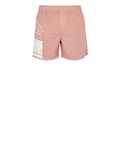 STONE ISLAND B0997 'BLOCK SWIMWEAR'  Swimming trunks Man Pink Quartz USD 186