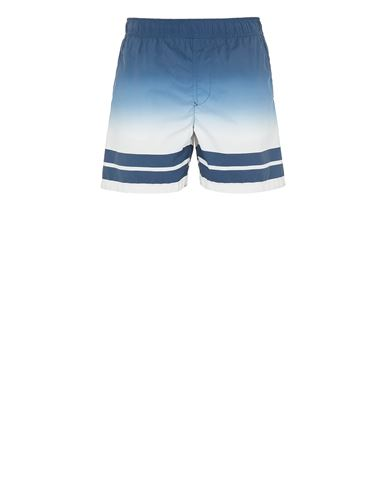 STONE ISLAND B0542 'SHADED PRINT' + STRIPES Badeboxer Herr Taubenblau EUR 189
