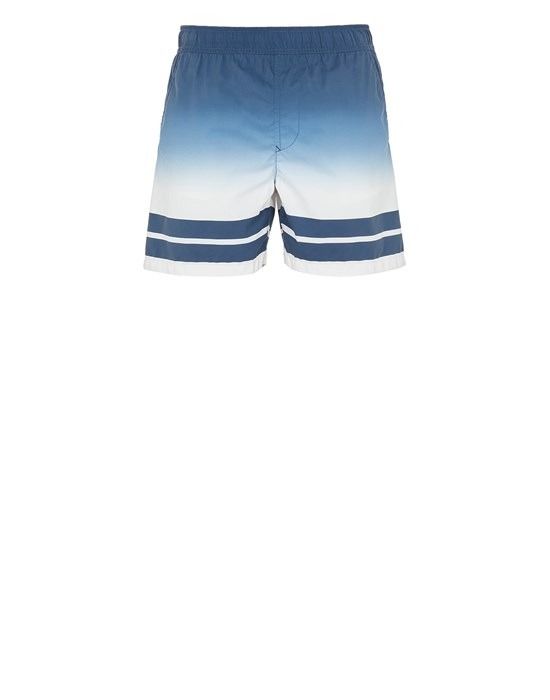 Swimming trunks Man B0542 'SHADED PRINT' + STRIPES Front STONE ISLAND