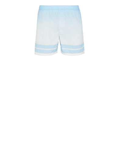STONE ISLAND B0542 'SHADED PRINT' + STRIPES Swimming trunks Man Sky Blue EUR 189