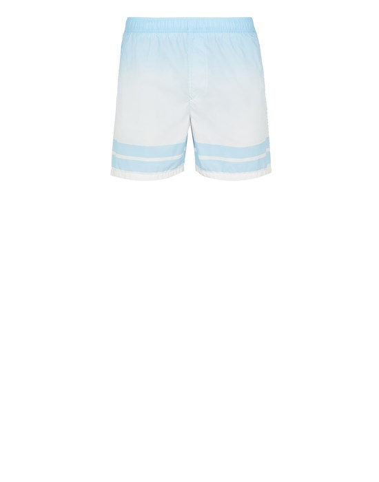 STONE ISLAND B0542 'SHADED PRINT' + STRIPES Swimming trunks Man Sky Blue