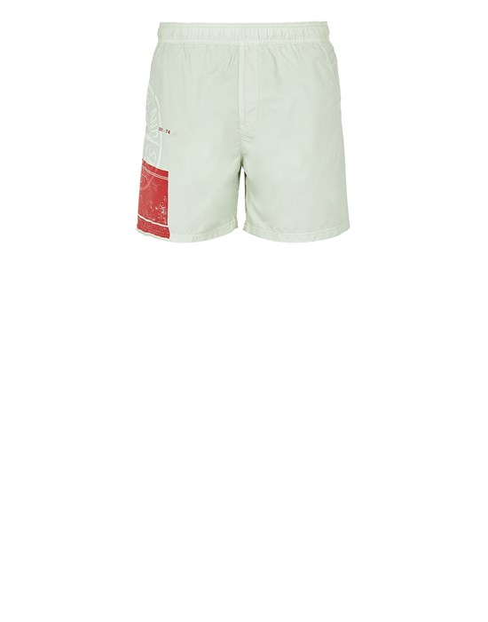 STONE ISLAND B0997 'BLOCK SWIMWEAR'  Swimming trunks Man Light Green