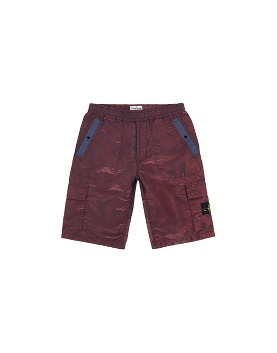 STONE ISLAND JUNIOR L0337 NYLON METAL COLOURED WEFT Swimming trunks FW Man Marine Blue