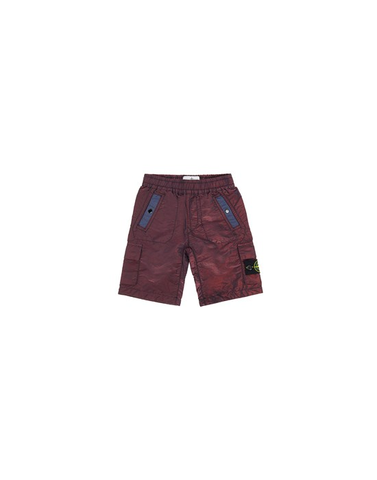 Swimming trunks FW Man L0337 NYLON METAL COLORED WEFT Front STONE ISLAND BABY