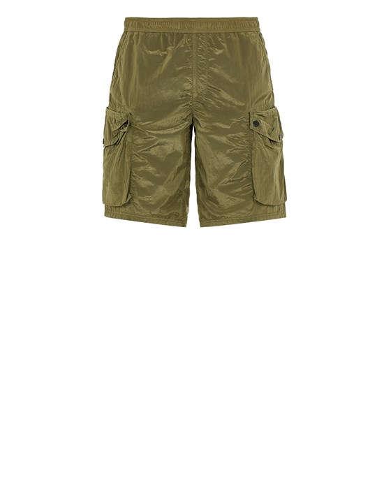 STONE ISLAND B0443 NYLON METAL  Swimming trunks Man Olive Green