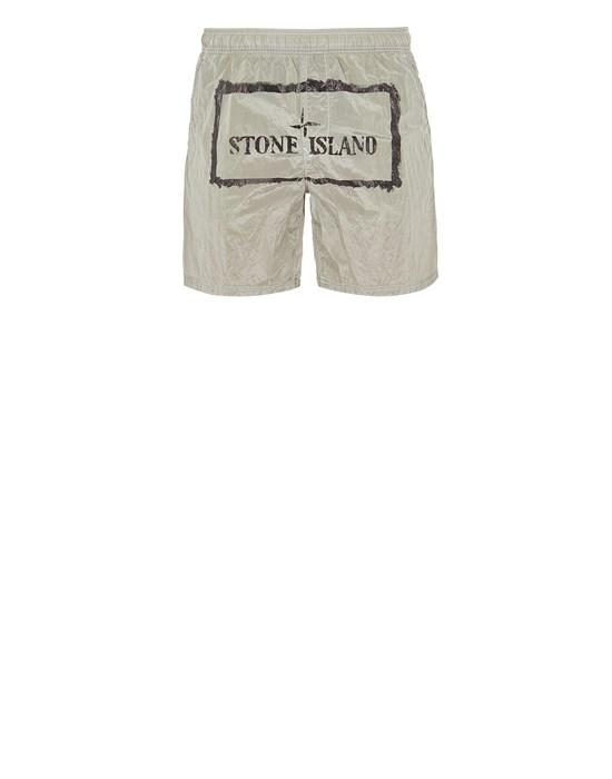 STONE ISLAND B0992 NYLON METAL 'STENCIL' PRINT  Swimming trunks Man Light Green