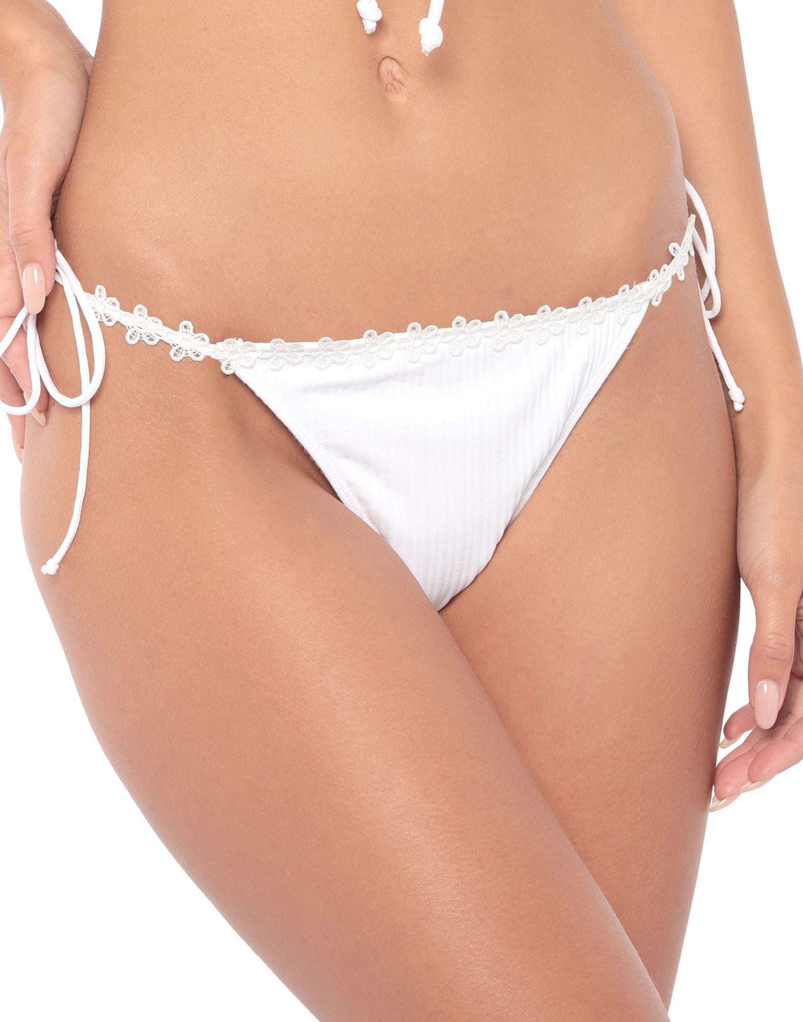 For Love & Lemons Bikini Bottoms In White