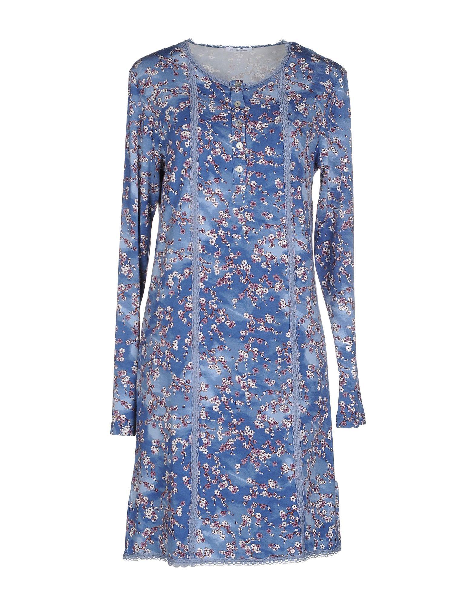 VERDISSIMA Damen Nachthemd Farbe Blaugrau Größe 4