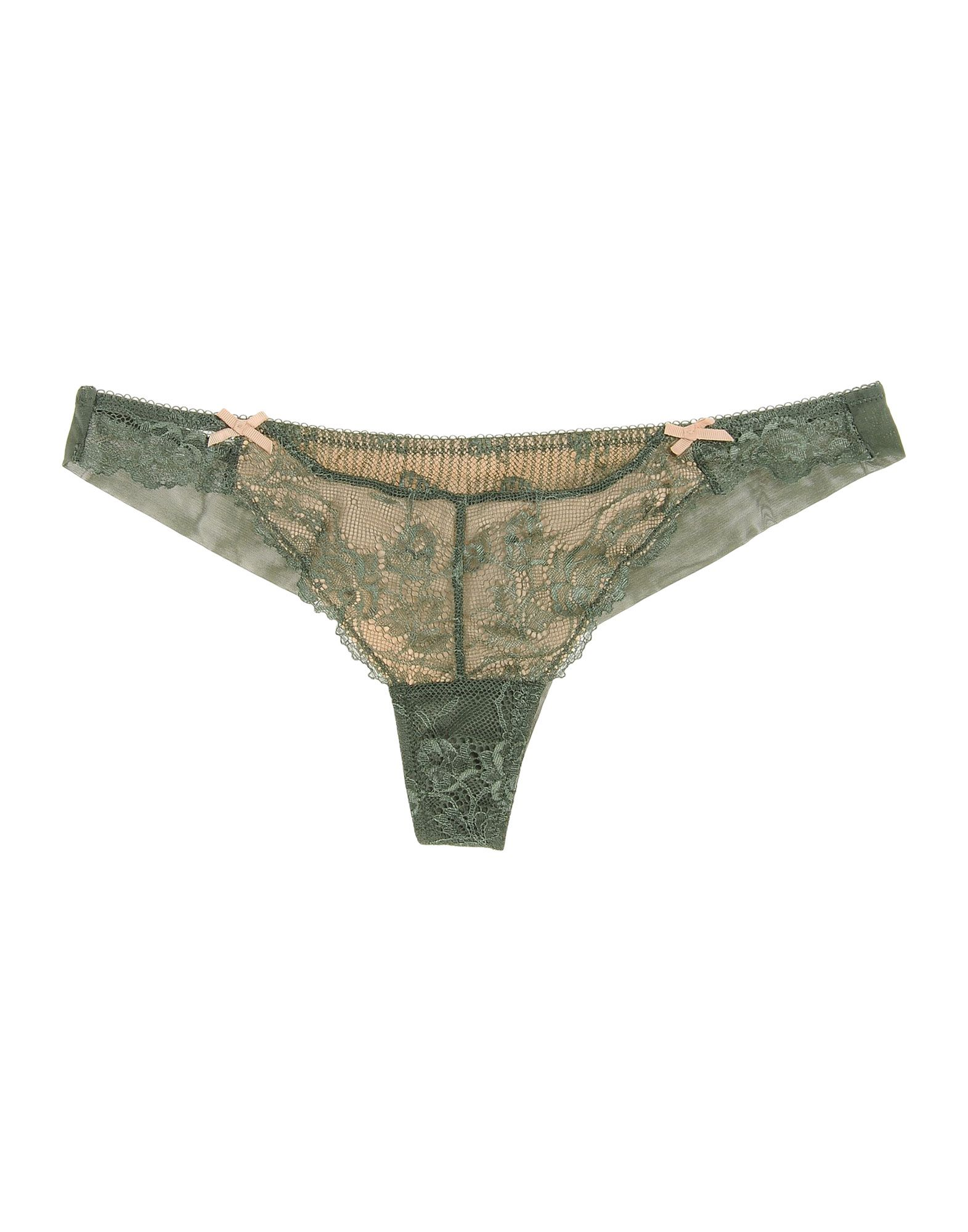 ELLE MACPHERSON INTIMATES Thongs in Military Green