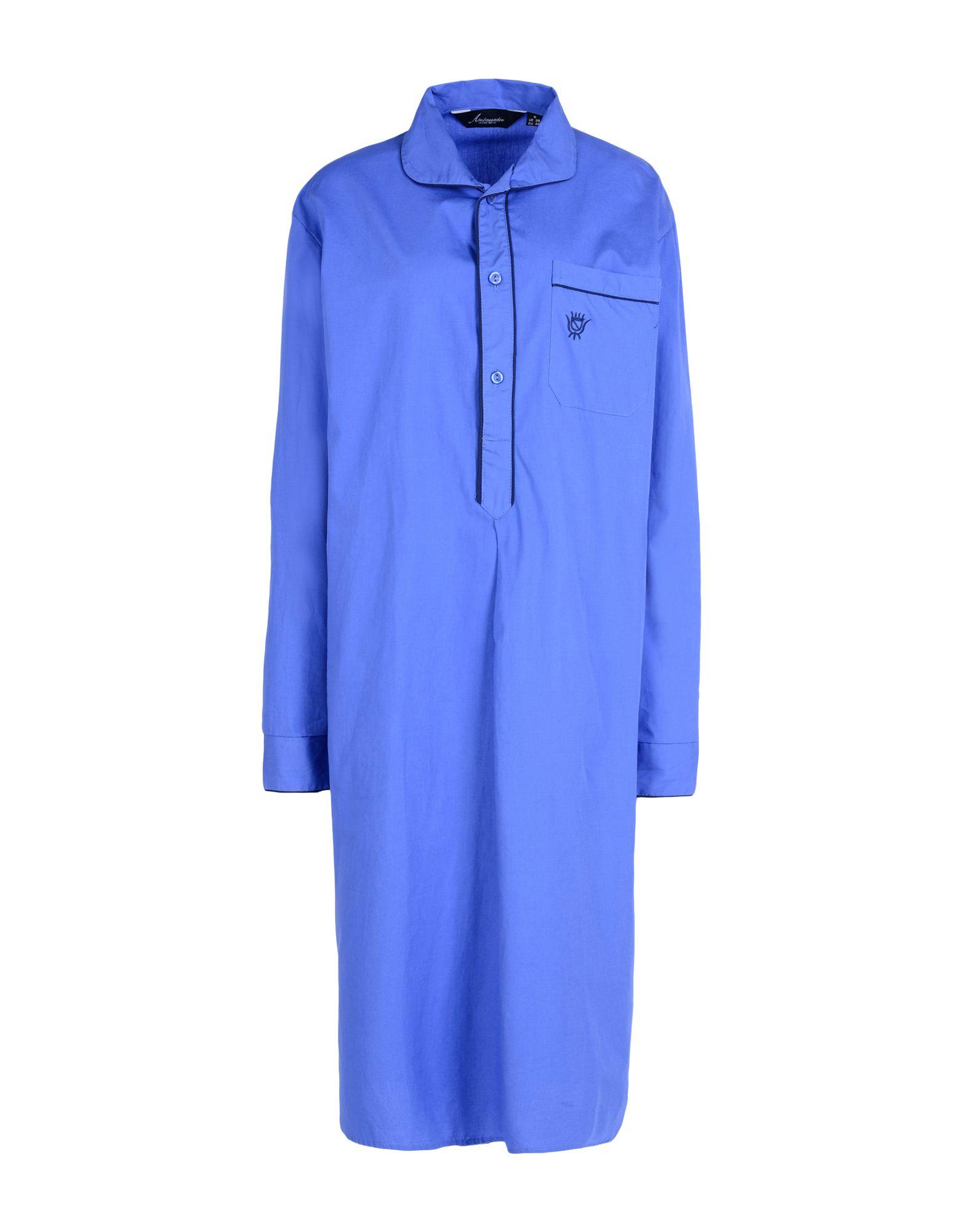 AMBASSADOR Damen Nachthemd Farbe Blau Größe 8