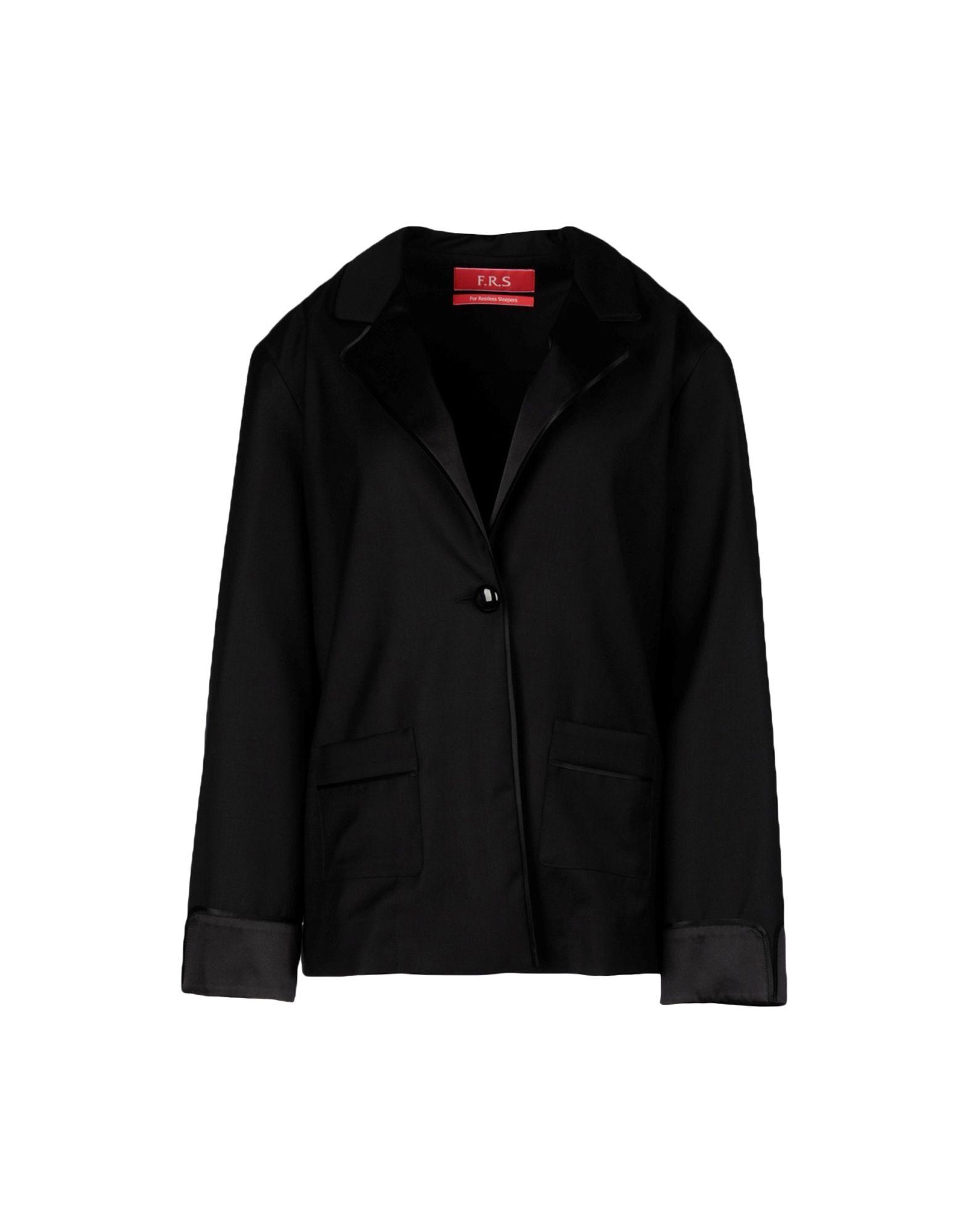 《送料無料》F.R.S. FOR RESTLESS SLEEPERS レディース メンズスーツ ブラック XS ウール 100%