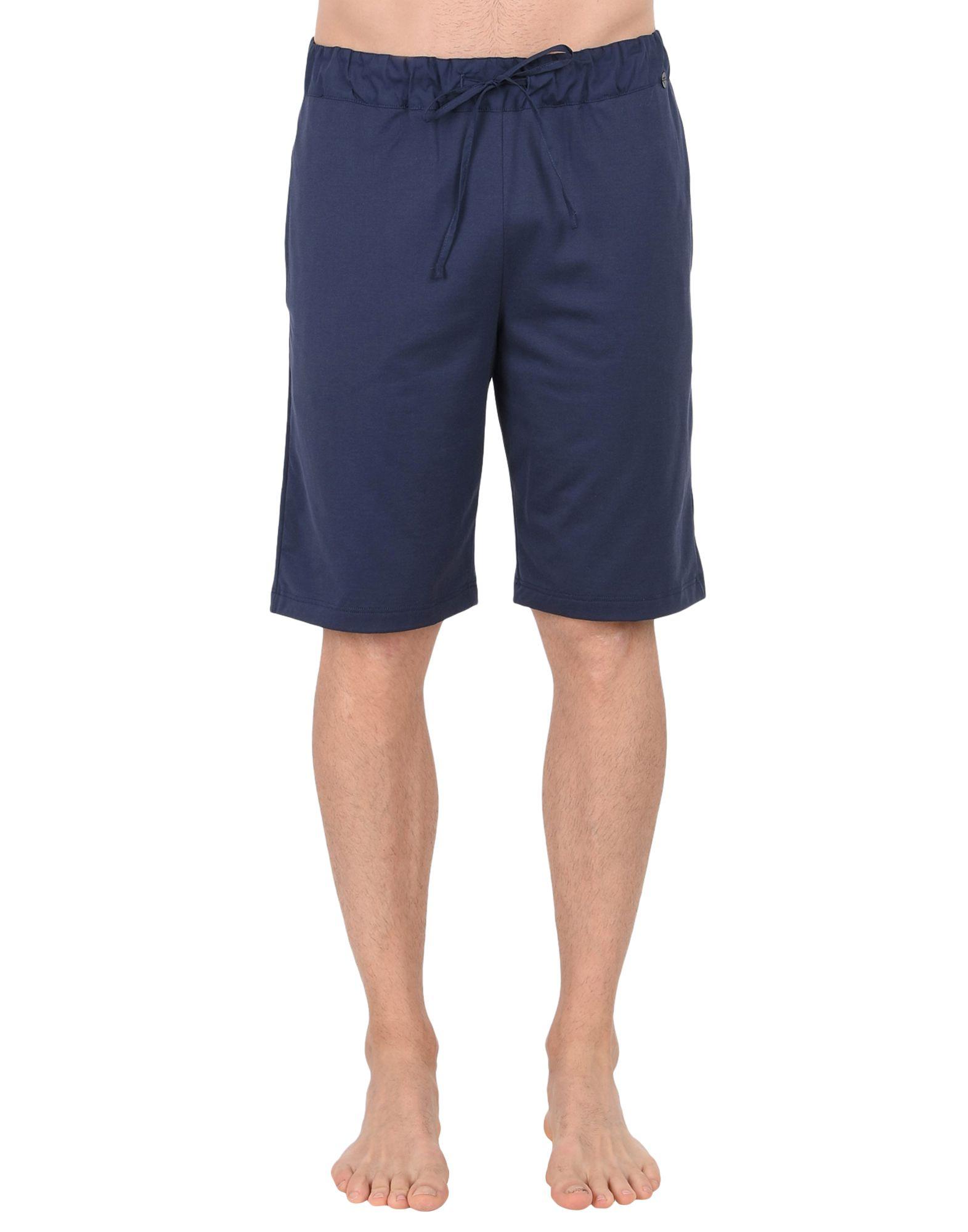《送料無料》HANRO メンズ パジャマ ダークブルー S コットン 100% Night & Day