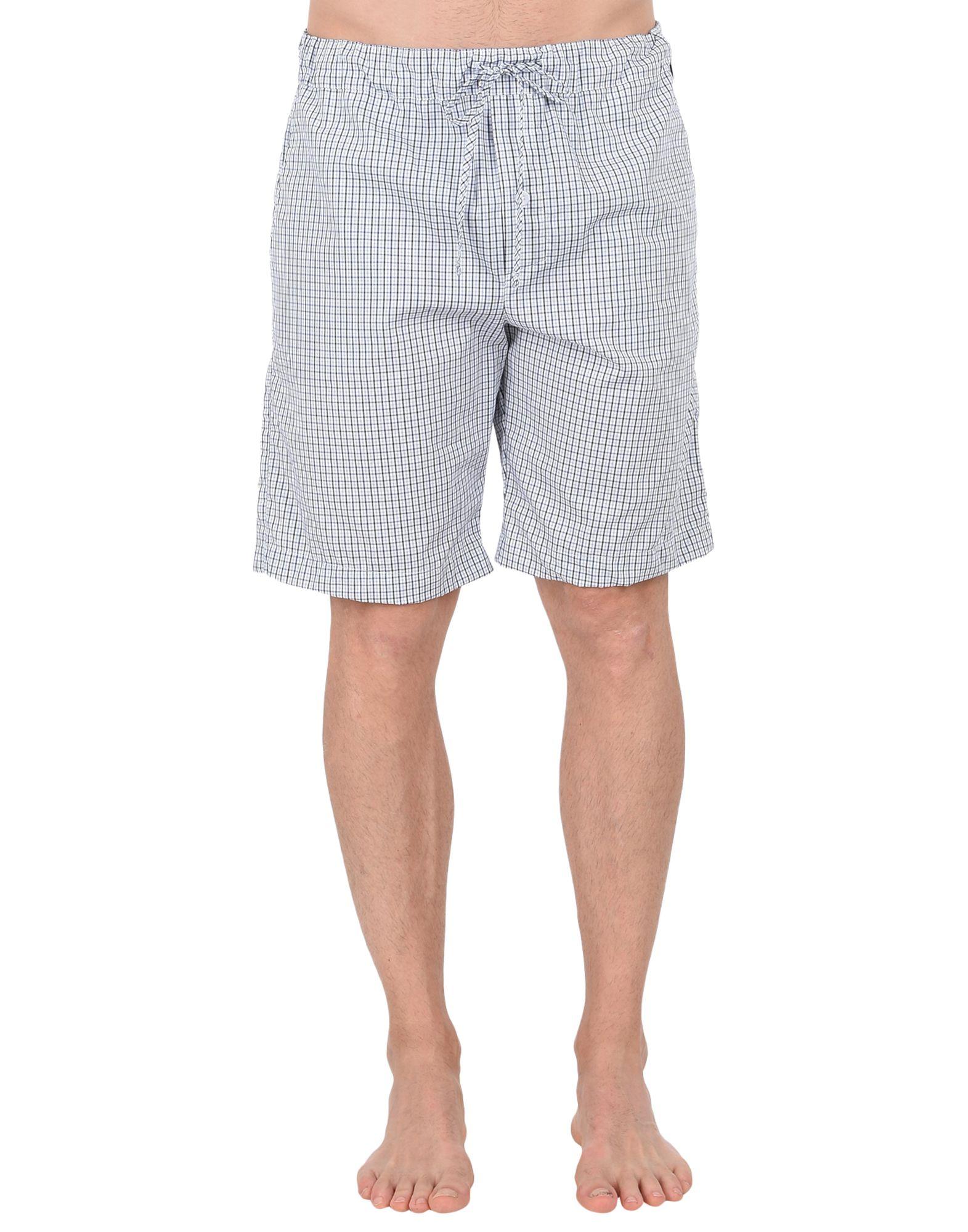 《送料無料》HANRO メンズ パジャマ ホワイト S コットン 100% 075433 Hose kurz