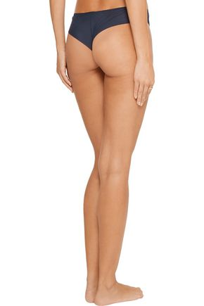 COSABELLA Cleope low-rise metallic lace-paneled tulle thong