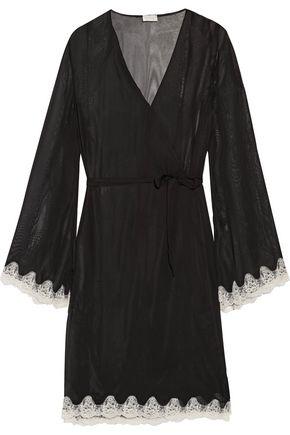 COSABELLA Elegance lace-trimmed chiffon robe