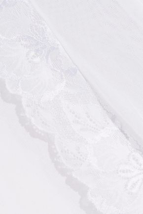 COSABELLA Lace-trimmed tulle robe