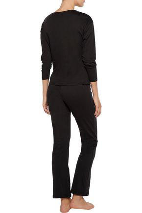 COSABELLA Ines lace-paneled Pima cotton pajama top