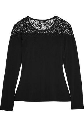 COSABELLA Orsay lace-paneled modal-blend pajama top