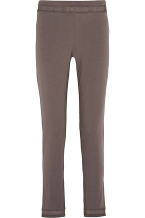 CALVIN KLEIN UNDERWEAR Knitted stretch-modal skinny pajams pants