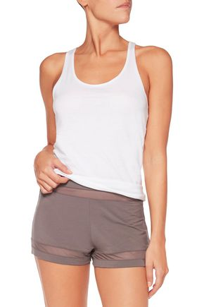 CALVIN KLEIN UNDERWEAR Mesh-paneled stretch-Modal shorts