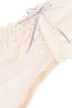 HEIDI KLUM INTIMATES Dolce Vita low-rise embroidered tulle thong